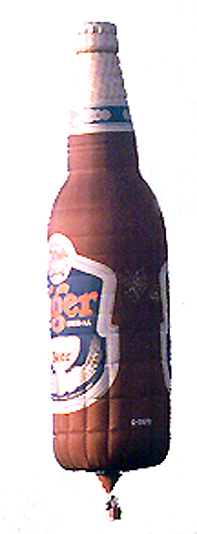 beer bottle special shape hot air balloon