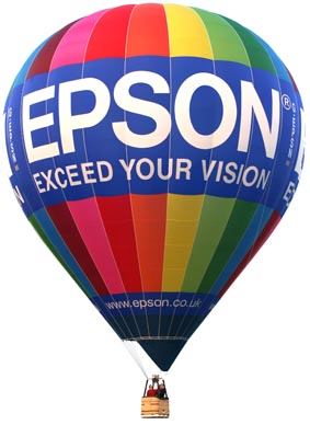 Epson hot air balloon