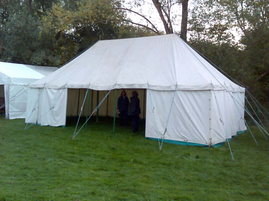 traditional canvas village marquee